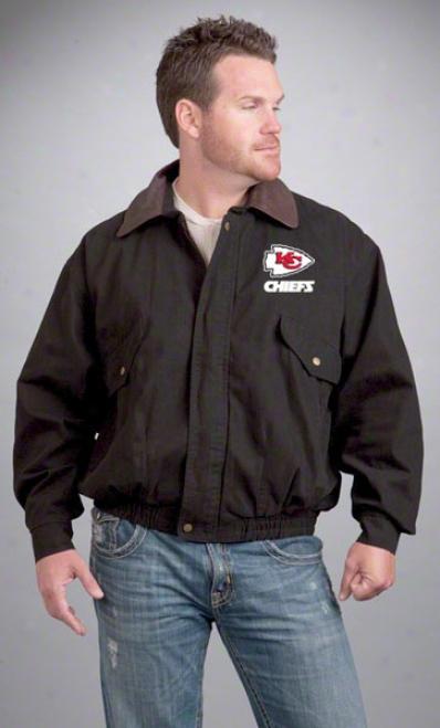 Kansas City Chiefs Jacket: Black Reebok Navigator Jacket