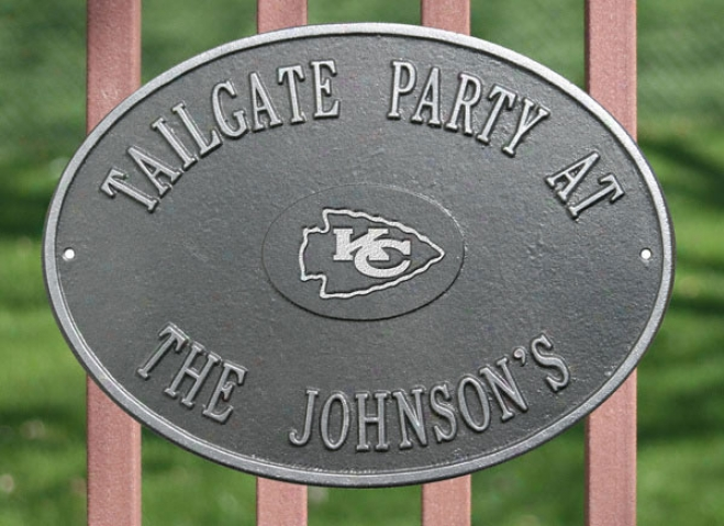 Kansas City Chiefs Personalized Pewter And Silver Indoor/outdoor Plaque