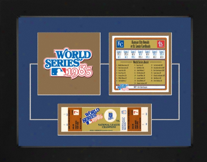 Kansas City Royals 19985 World Series Replica Ticket & Patch Construct