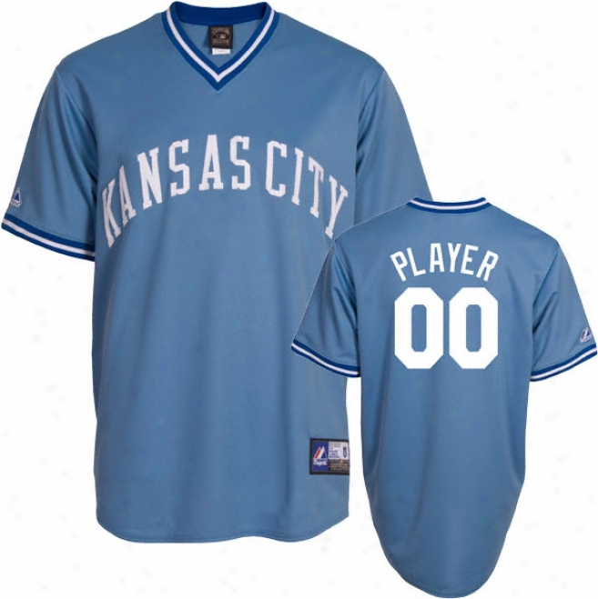 Kansas City Rotals Cooperstown Columbia Blue -any Idler- Replica Jersey
