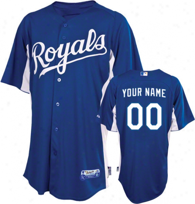 Kansas City Royals Jdrsey: Personalized Authentic Blue On-field Batting Practice Jersey