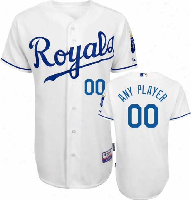 Kansas City Royals - Personali2ed With Your Name - Authentic Cool Baseã¢â�žâ¢ Home White On-field Jersey