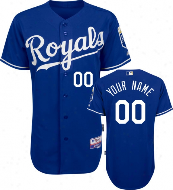 Kansas City Royals - Personalized With Your Appellation - Authentic Cool Baseã¢â�žâ¢ Alternate Royal Blue On-field Jersey