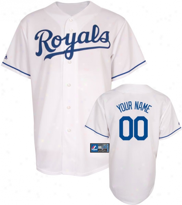 Kajsas City Royals -personalized With Your Name- Home Mlb Replica Jersey