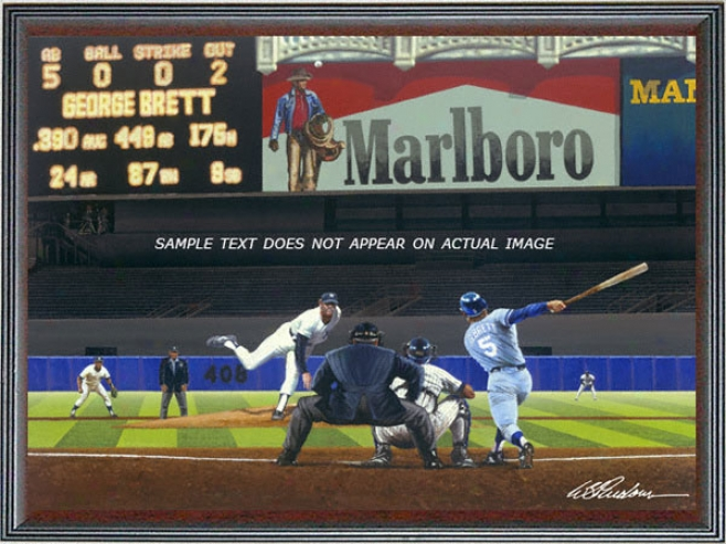 Kansas City Royals - &quotbrett's Bronx Bomb&quot - Large - Framed Giclee