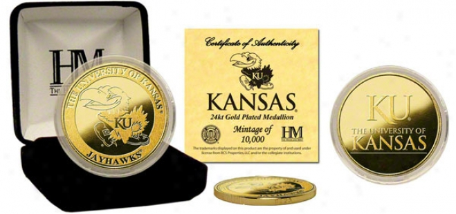 Kansas Jayhawks 24kt Gold Coin