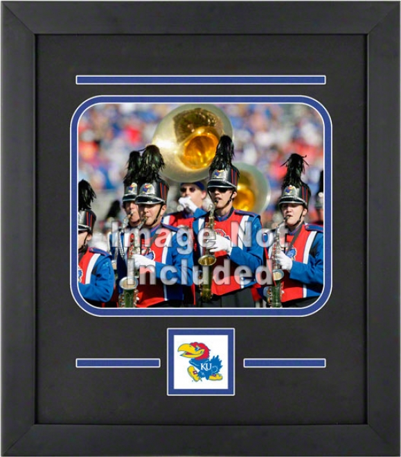 Kansas Jayhawks 8x10 Horizontal Setup Frame With Team Logo