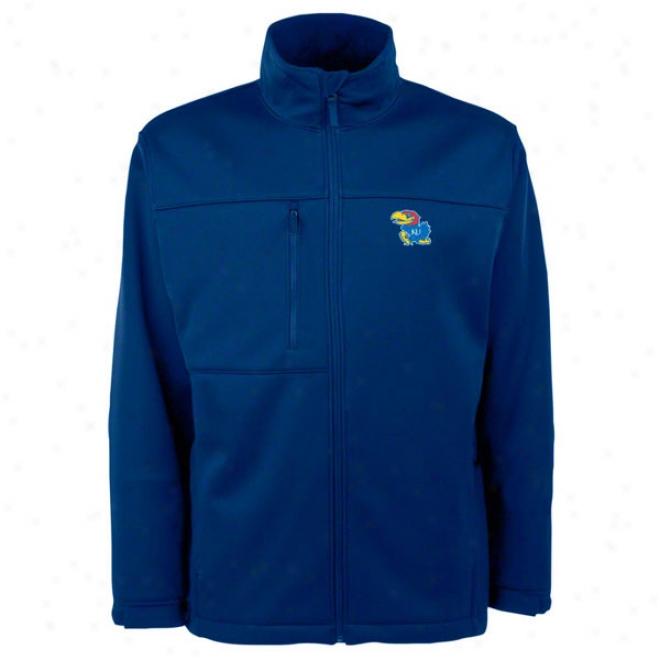 Kansas Jayhawks Blue Traverse Bonded Soft Shell Jacket