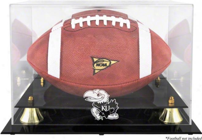 Kansas Jayhawks Golden Classic Football Logo Display Case With Mirror Back