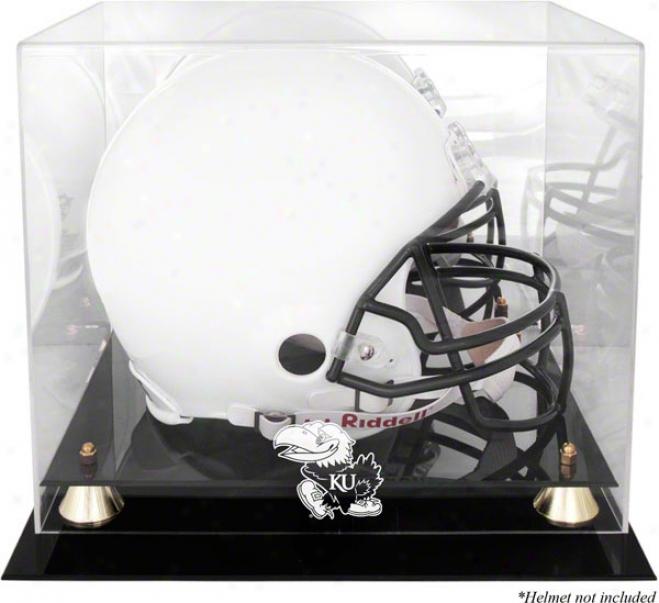 Kansas Jayhawks Goleen Classic Helmet Logo Display Case With Mirror Back