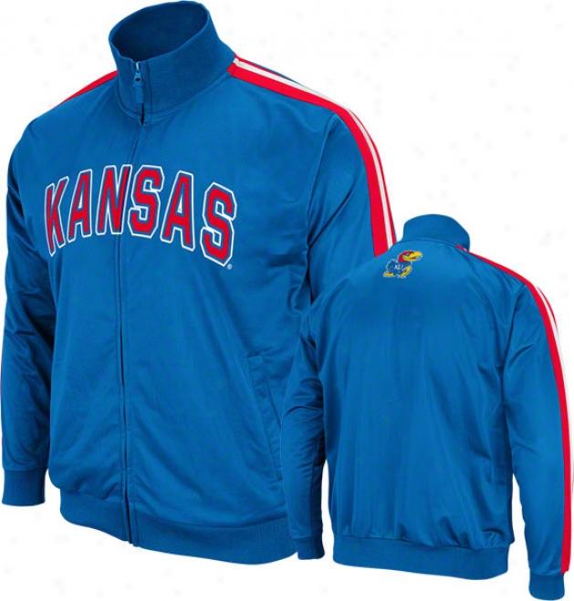 Kansas Jayhawks Royal Pace Track Jacket