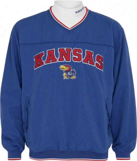 Kansas Jayhawks Windshirt/long Sleeve Mockneck Combo Pack