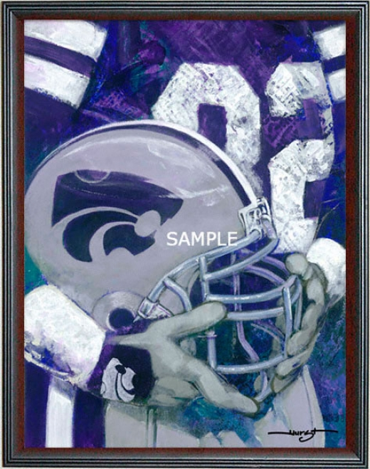 Kansas State Wildcats - &quotksu Helmet Series&quot - Large - Framed Giclee