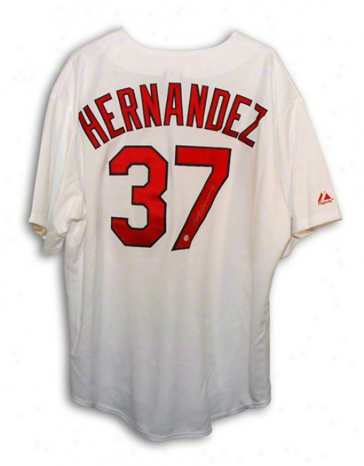 Keith Hernandez Autographed St. Louis Cardinals White Majestic Throwbakc Jersey