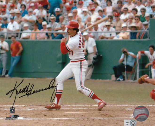Keith Hernandez St. Louis Cardinals 8x10 Autographed Photograph