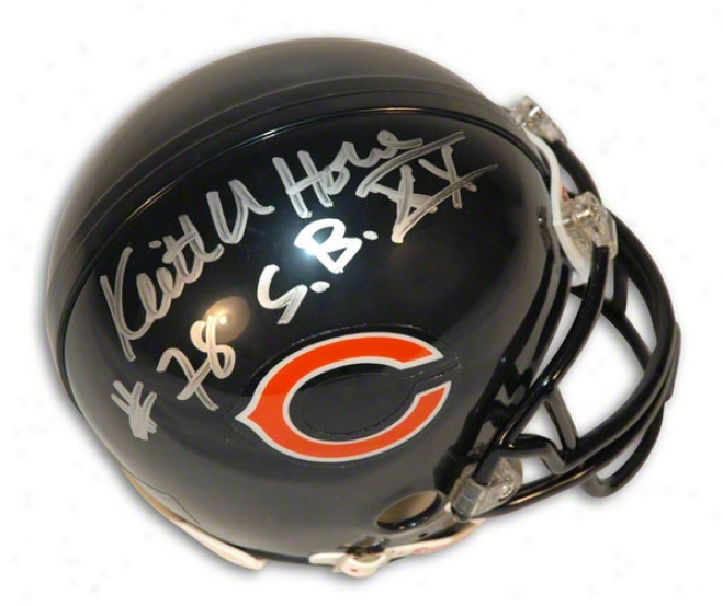 Keith Van Horn Auttographed Chicago Bears Mini Helm Inscribed &quotsb Xx Champs&quot