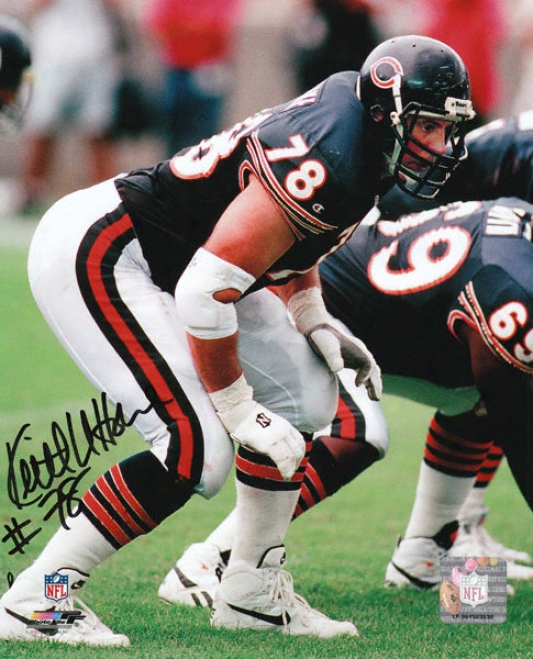 Keith Front Horne Chicago Bears Autographed 8x10 Photograph
