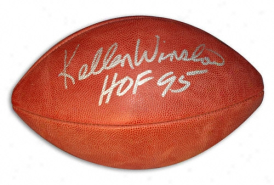 Kellen Winslow Autographed Football With ''hof 95'' Inscription