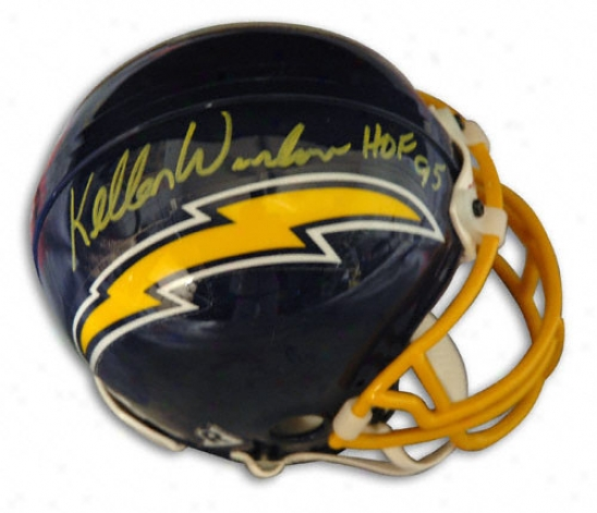Kellen Winslow San Diego Cargers Autographed Throwback Mini Helmet With ''hof 95'' Inscription