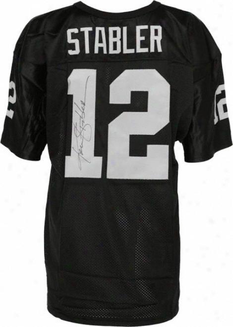 Ken Stabler Autographed Jersey  Details: Oakland Raiders