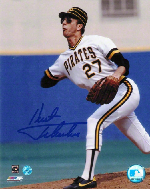 Kent Tekulve Pittsburgh Pirates Autographed 8x10 Photo