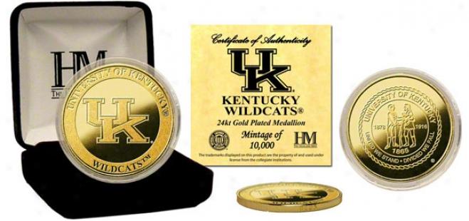 Kentucky Wildcats 24kt Gold Specie