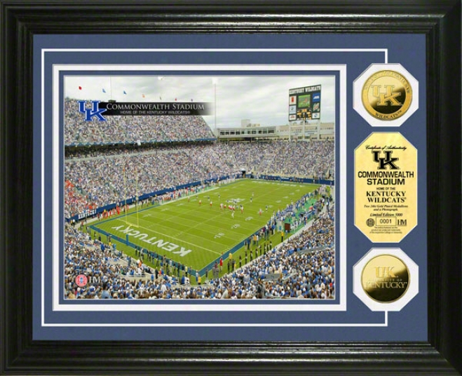 Kentucky Wildcats The public Stadium 24kt Gold Specie Photo Mint