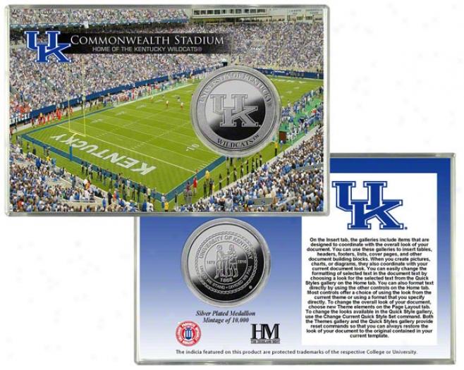 Kentucky Wildcats Commonwealth Stadium Silver Coin Card