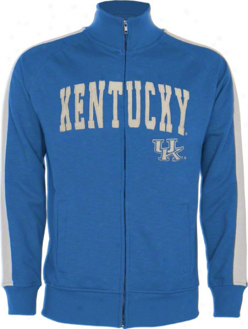Kentucky Wildcats Royal Pinnacle Slub French Terry Track Jacket