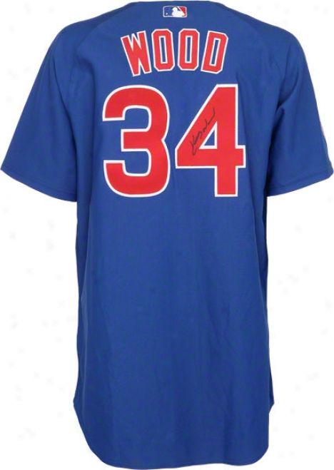 Kerry Wood Autograpjed Jersey  Details: Chicago Cubs, Majeqtic Authentic