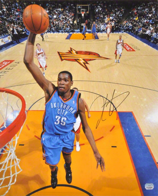 Kevin Durant Autographed Photograph  Details: Oklahoma City Thunder, Dunking, 16x20