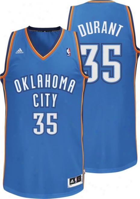 Kevin Durant Blue Adidas Revolution 30 Swingman Oklahoma City Thunder Jersey