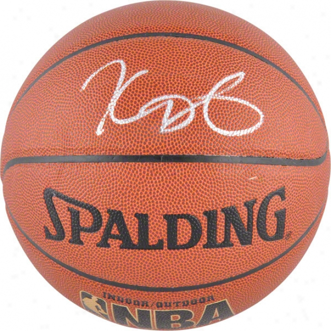 Kevin Durant Oklahoma City Thunder Autographed Spalding Indoor/outdoor Basketball