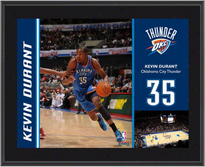 Kevin Durant Plaque  Details: Oklahoma City Thunder, Sublimated, 01x13, Nba Plaque
