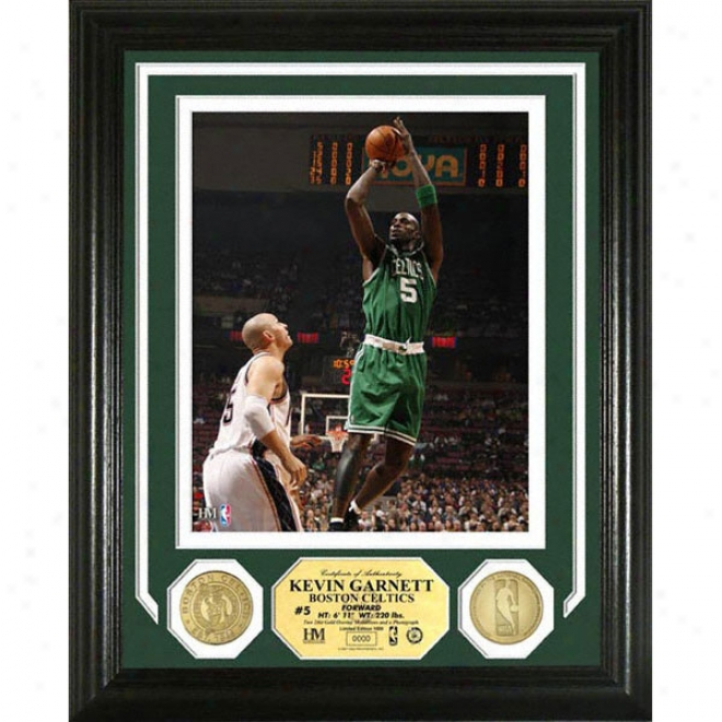 Kevin Garnett Boston Celtics Photo Mint With Two 24kt Gold Coins