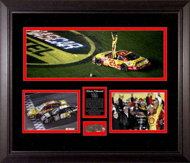 Kevin Harvick 2007 Daytona 500 Panoramic With Track Gun
