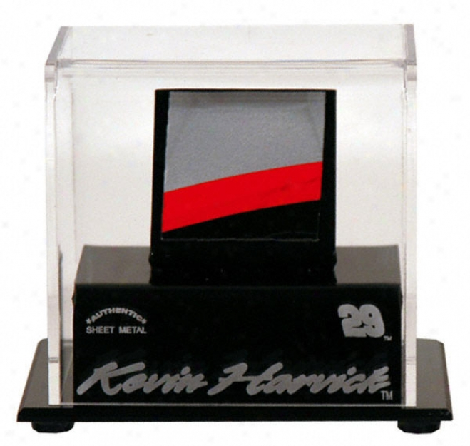 Kevin Harvick Logo Display Case With Race Used Metal Piece