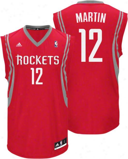 Kevin Martin Jersey: Adidas Revolution 30 Red Replica #12 Houston Rockets Jersey