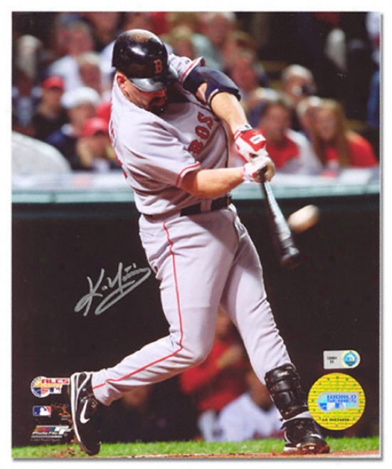 Kevin Youkilis Boston Red Sox - Alcs Home Run - Autographed 16x20 Photograph