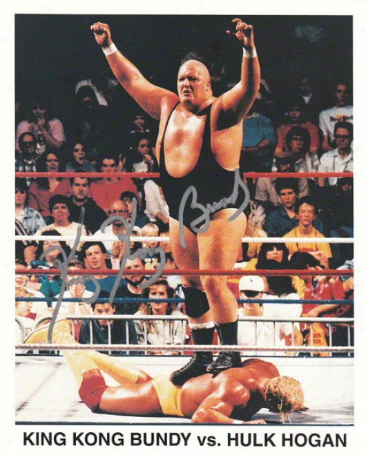 King Kong Bundy - In Ring - Autographed 8x10 Photograph