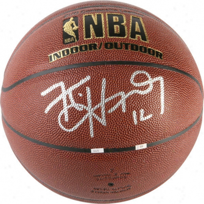 Kirk Hinrich Atlanta Hawks Autographed Indoor/outdoor Basketball