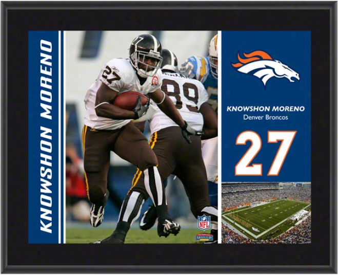 Knowshon Moreeno Plaque  Detakls: Denver Broncos, Sublimatec, 10x13, Nfl Plaque