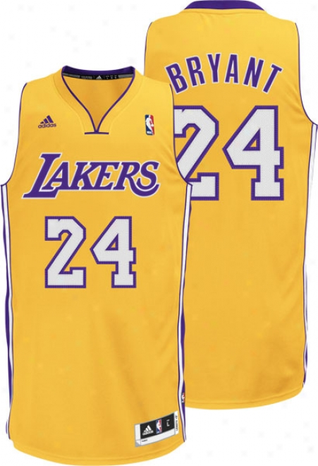 Kobe Bryant Gold Adidas Rotation 30 Swingman Los Angeles Lakers Jersey