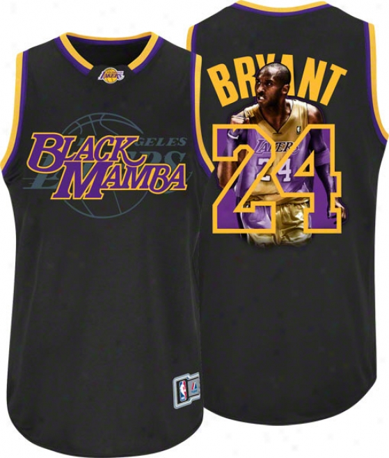 Kobe Bryant Los Angeles Lakers 'black Mamba' Majestic Notorious Jersey