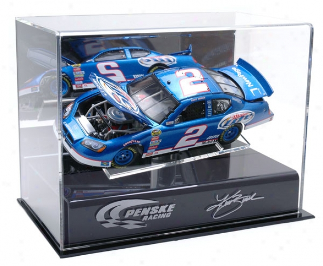 Kurt Busch 1/24th Die Cast Display Case With Platform