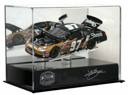 Kurt Busch 2004 Nascar Nextel Chalice Champion 1/24th Die Cast Display Case With Platform