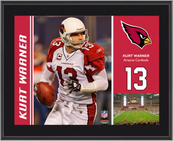 Kurt Warner Plaque  Details: Arizoa Cardinals, Sublimated, 10x13, Nfl Plaque