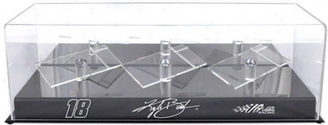 Kyle Busch 1/24th Die Cast Three Car Display Case