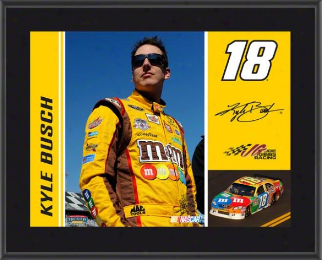 Kyle Busch Sublimated 10x13 Plaque