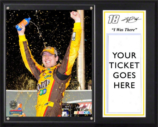 Kyle Busch Sublimated 12x15 Plaque  Details: 2011 Quaker State 400 Kentucky Speedway Inaugural Race, &quoti Was There&quot